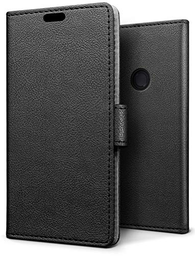 Sleo Case for Xiaomi Note redmi 5 Pro/Redmi Note 5 Book Case Ultra Thin Wallet Leather Wallet [Card slots,Folding support,Magnetic closure] Case Flip Cover