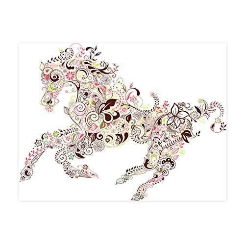 Home Dekorative Abnehmbare Wandtattoos Bunte Blumenmuster Pentium Pferd Pvc Wandaufkleber Für Kinder Wohnzimmer Dekoration -