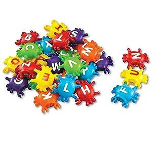 Learning Resources- Cangrejos con Letras Letter Link Crabs Smart Splash para adquirir Conciencia del Alfabeto, Color (LER7306)