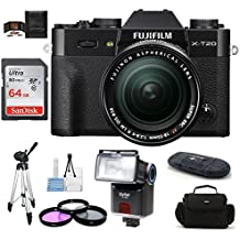 Fujifilm X-T20 Mirrorless Digital Camera (with 18-55mm Lens, Black)