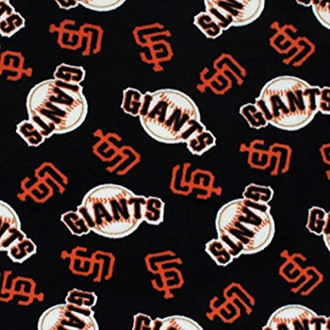 San Francisco Giants Premium MLB Solid Polar Fleece Fabric, 60 Inches Wide - Sold By The Yard by Fabric Bravo