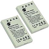 DSTE 2-Pack Rechange Batterie pour Nikon EN-EL5 Coolpix P510 P520 P530 P5000 P5100 P6000 S10 3700 4200 5200 5900 7900 P3 P4 P80 P90 P100 P500