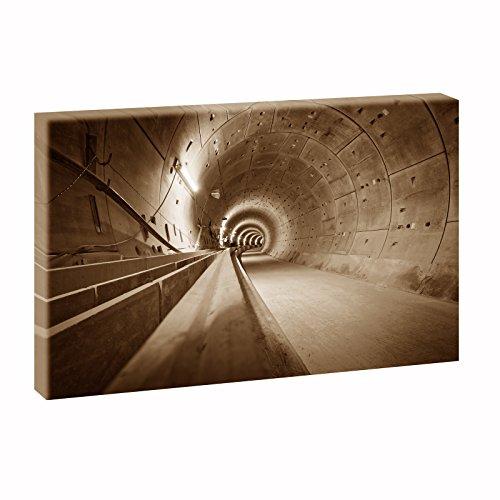 Hamburg U4 Ubahntunnel | Panoramabild im XXL Format | Trendiger Kunstdruck auf Leinwand | Verschiedene Größen und Farben (100 cm x 65 cm, Sepia)