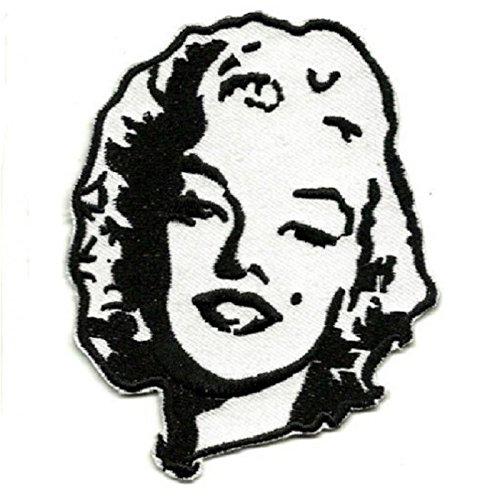 hotrodspirit-Patch Marilyn Monroe schwarz und weiß Ecusson-Damen Pin Up