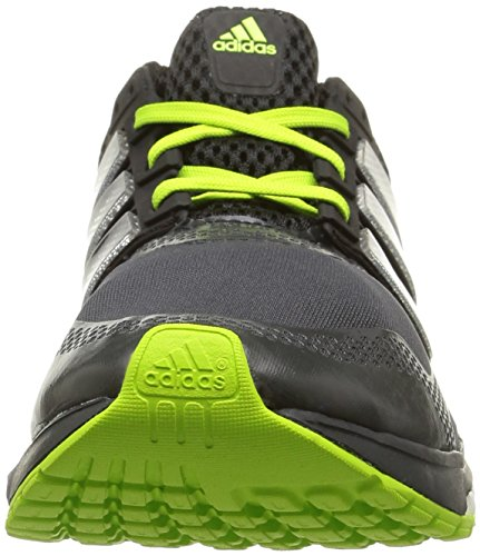 adidas Response Boost 2.0 Techfit, Running homme Noir (Dark Grey/Core Black/Solar Yellow)