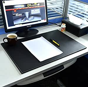 Hensych Smooth PU Leather Writing Mat Desk Pad Office Desktop