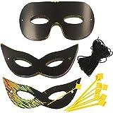 Scrapy Masken Größe 7x18 cm Neon Farben 60asstd