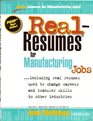 Free Download Real Resumes For Manufacturing Jobs Real Resumes