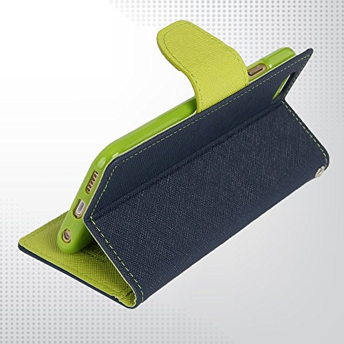 DMG Premium Fancy Diary Wallet Flip Cover Case for Micromax Unite 2 A106 (Blue)