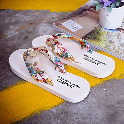 Reasoncool Le donne sandali di estate Slipper Scarpe Indoor Outdoor Flip-flop Beach Beige