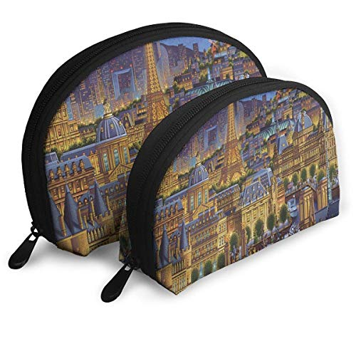 Tasche Reißverschluss Kulturveranstalter Reise Make-up Clutch Bag Paris City of Lights Aufbewahrungsbeutel -