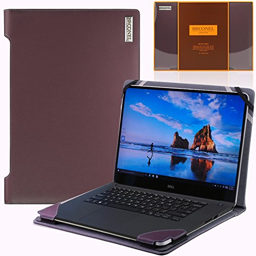 Broonel London – Profile Series – Luxus-Laptop aus violetten Leder für Dell XPS 15 (15 Leder-laptop Portfolio)