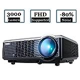 Beamer HD Projektor LED-Beamer 3000 Lumen 854*540 Beamer Unterstützt 1080P Videoprojektor...