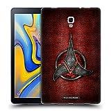 Head Case Designs Officiel Star Trek Empire Klingon Insignes Étui Coque en Gel Molle pour Samsung Galaxy Tab A 10.5 (2018)