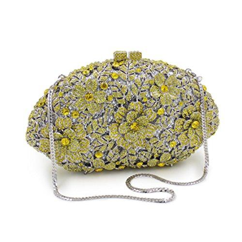 Frauen-High-End-Luxus-Diamant-Abendtasche Tasche Tasche Schultertasche Gold