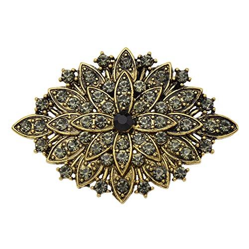 YNuth Damen Schuhclip Blume Strassapplikationen Bronze Hochzeit Dekoration Retro …