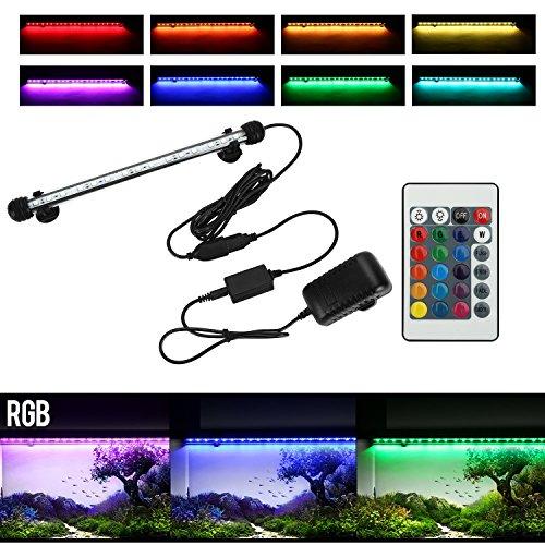 NONMON Aquarium LED RGB Lampe 29 CM Une Rangée Amphibie Tube Hydrofuge Télécommande Pour Aquarium Poisson Puissance Maximale 4.8W