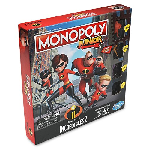 Disney E1781102 The Incredibles Monopoly Junior