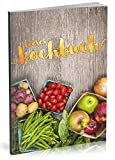 Dékokind Leeres Kochbuch: Für über 80 Lieblingsrezepte || Ca. A5 Softcover || Rezeptbuch zum Selbstgestalten / Selberschreiben mit Inhaltsverzeichnis || Motiv: Wochenmarkt