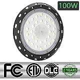 100W LED UFO Industrielampe,6000-6500K Hallenstrahler led Aluminiumgehäuse Hallenleuchte Werkstattbeleuchtung Für Lagergebäude,Garagen Beleuchtung,Logistikzentrum