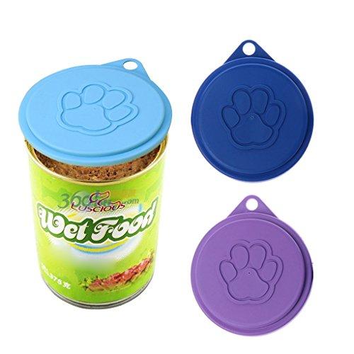 FURU Dose Aufbewahrung Top Cap Lebensmitteln Cover für Pet Cat Puppy Food rolours zufällige - Canopy Top Cover