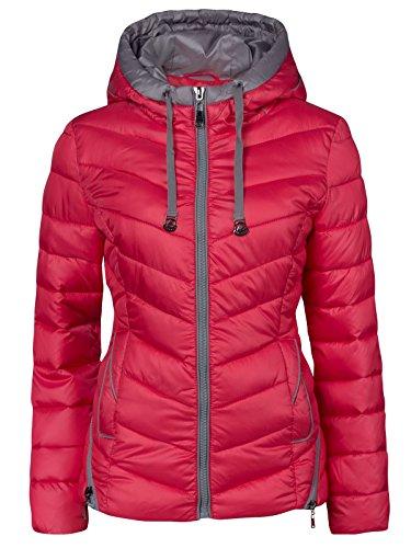 Chaqueta de invierno para Mujer, corta, acolchada, aspecto de plumón, Capucha, cuello,...