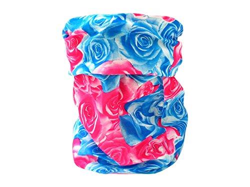 Foulard fazzoletto da collo sciarpa funzionale multiuso scaldacollo tubolare leggero e morbido estate primavera autunno inverno loop anello ragazze colorati stola accessorio moderno lifestyle, multiscarf 43-61:blu rosa rossa 55