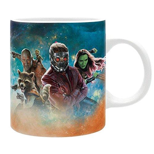 Star Lord Kostüm Comic - Guardians Of The Galaxy Vol. 2 - Keramik Tasse - Crew Logo - Geschenkbox