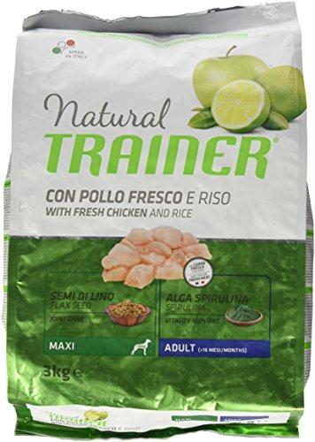 Natural Trainer Trainer Natural Maxi Pollo Riso kg. 3 Cibo Secco per Cani, Multicolore, Unica