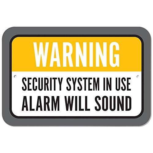 Kunststoff Schild Warnung Sicherheit System in Gebrauch Alarm Sound, plastik, 12