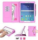 FYY Hülle für Samsung Galaxy Tab S2 9.7 - PU Leder Stand Folio Tasche mit Auto Schlaf/Wach Funktion Smart Cover-Pink