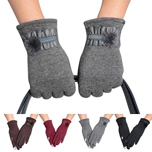 Malloom® Mujer invierno antideslizantes térmicas deportes Pantalla tactil guantes