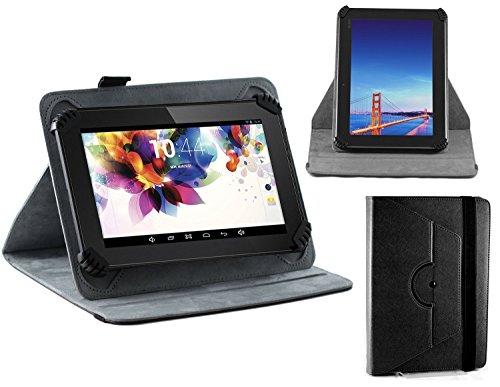 Navitech Schwarz Leder Stand Folio Tasche / Abdeckung für die Polaroid S8 8-inch Dual-Core Tablet (Tablet 8 Tasche Polaroid Zoll)