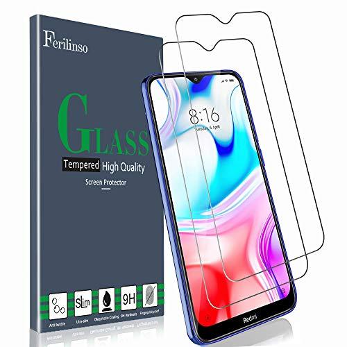 Ferilinso Vidro temperado para Xiaomi Redmi 8A / Redmi 8 Glass Film, [2 Pack] Película protetora de vidro temperado Película protetora de tela com garantia de