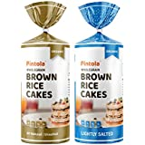 Pintola Organic Wholegrain Brown Rice Cakes Combo Pack (All Natural) (Unsalted and Lightly Salted)