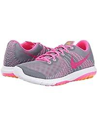 Nike Flex Fury (GS) - Zapatillas para niña, color gris / rosa / blanco
