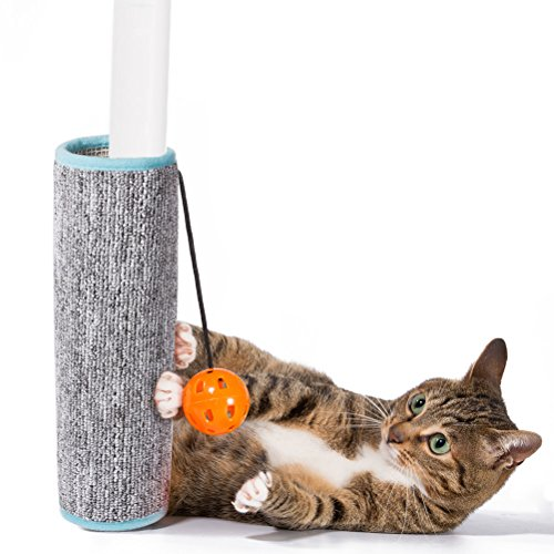 iHOY neue Tisch und Stuhl Füße kratzen Pad Katzenkratzbaum Cat Scratching Katze Sisal Grab Decke Katze Scratching Board Katze Spielzeug Schleifen Klaue(Grau) (Kratzen Sisal Pad)