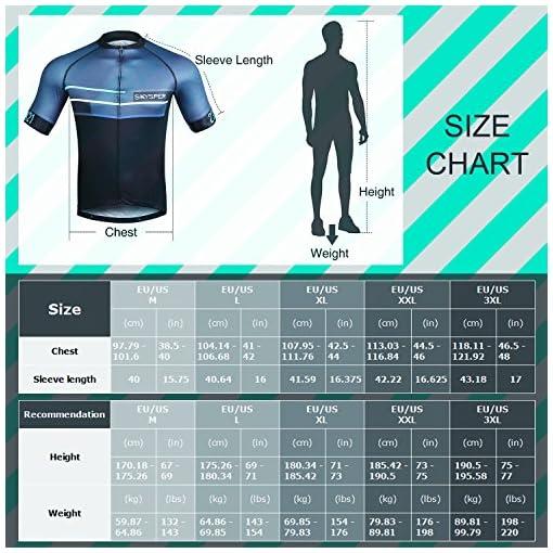 SKYSPER Maglietta da Ciclismo Professionale, Uomo Maglia Ciclismo Maniche Corti Igroscopica e Asciugatura Rapida