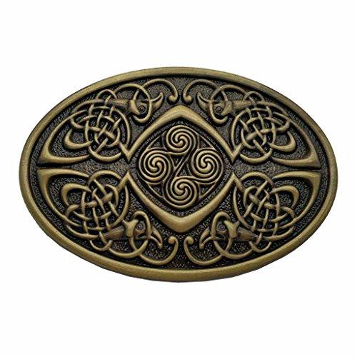YONE Hebilla de cinturón Celtic Knot Oval Belt Buckle Bronze