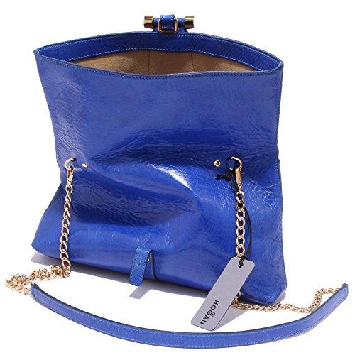 3516Q borsa donna HOGAN SOFT CLUTCH blu tracolla shoulder bag woman Blu elettrico