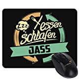 getshirts - RAHMENLOS® Geschenke - Mousepad - Sport Jass - schwarz uni