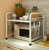 Kitchen furniture Küchenmöbel-WXP Küche Regalboden Mikrowelle Ofen Regal Regal Edelstahl Multilayer Lagerung Regal WXP-Küchenschränke und Besteckschränke (Größe : 45 * 35 * 50cm)