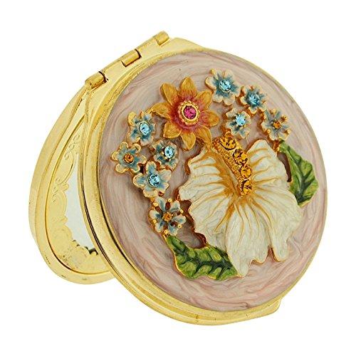Espejo Compacto de Westminster lujo hecho a mano Vintage Look dorado metal viaje espejo E30