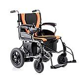 MTX Ltd Ältere Menschen Liefern Rollstuhl Faltbaren Leichtgewichtsrollstuhl, Aluminiumrollstuhl, Manueller Rollstuhl, Elektrischer Rollstuhl, Faltender Transportreisenrollstuhl, Behindert,Gelb,A