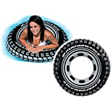 KriTech Inflatable Tire Tube Swim Ring With Handles - Blow Up Floating Raft Tube For Swimming Pool Beach