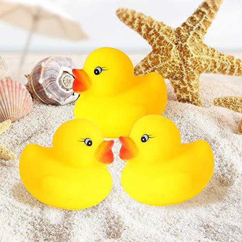 heDIANz 10 Stücke Baby Kleinkinder Bad Dusche Badewanne Aufblasbare Schwimm Spielzeug Gummi Quietschende Enten