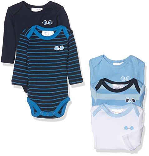 Twins Baby-Jungen Body langarm, 5er Pack   Blau (Marine 3011), 74