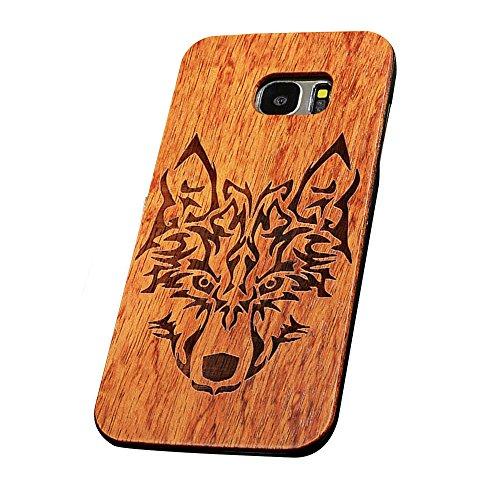 Forepin® Vero Legno Legna Wood Cover Caso Con Plastica Telaio