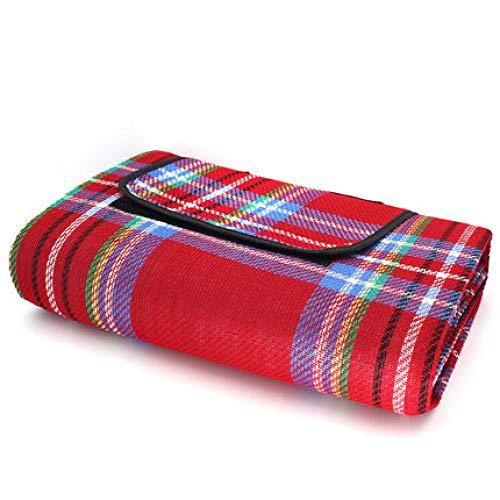 CRSM Haushalt Wilden Teppich Kaschmir-Matte Strandmatte Picknick-Matte Outdoor-Rasen Kissen 2 * 1,5 M Rot 200 * 150 cm - Kaschmir-schwarz-teppich
