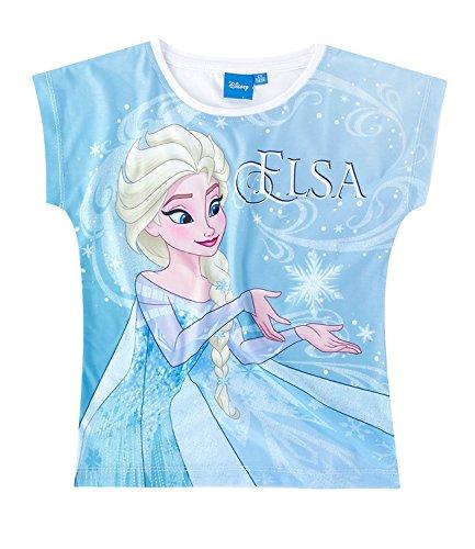 in Elsa & Anna Mädchen T-Shirt - hellblau - 104 (Frozen T-shirts)